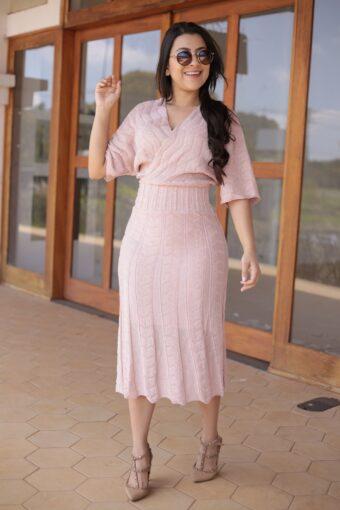 Vestido Tricot Tranpassado em Áquila Tauheny Store | Moda Evangélica