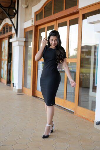 Vestido Tubinho Bengaline em Áquila Tauheny Store | Moda Evangélica