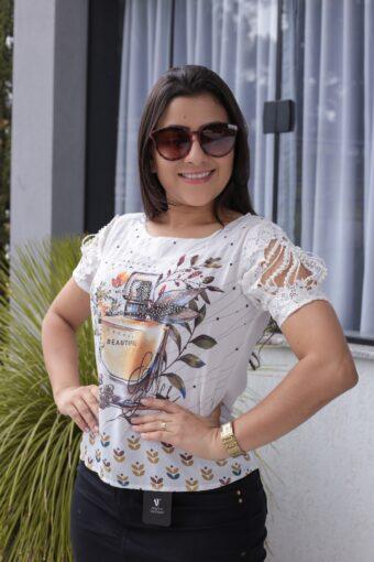 Blusa Crepe Estampada em Áquila Tauheny Store | Moda Evangélica
