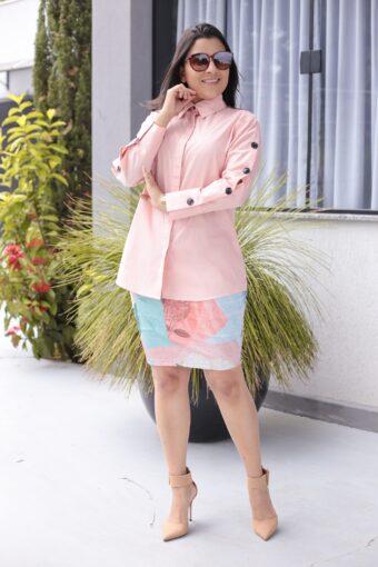 Camisão Rosa em Áquila Tauheny Store   Moda Evangélica