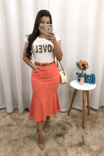 Saia Midi Mullet em Áquila Tauheny Store | Moda Evangélica