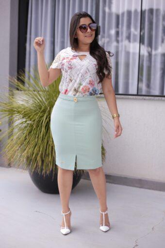 Saia Secretária Jany Pim Mint em Áquila Tauheny Store | Moda Evangélica
