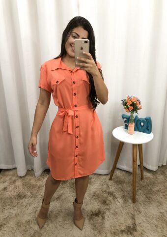 Vestido Laranja em Áquila Tauheny Store | Moda Evangélica
