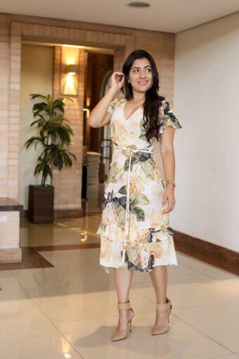Vestido Crepe Babado em Áquila Tauheny Store | Moda Evangélica