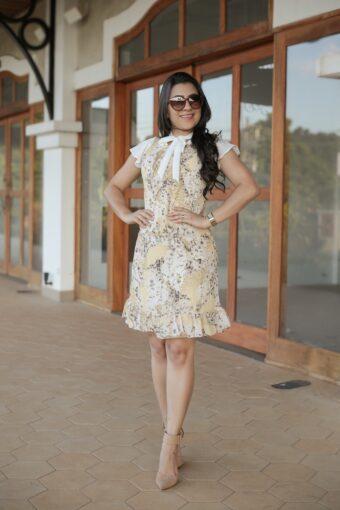Vestido Crepe Floral em Áquila Tauheny Store   Moda Evangélica