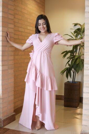 Vestido Longo Rosa em Áquila Tauheny Store | Moda Evangélica