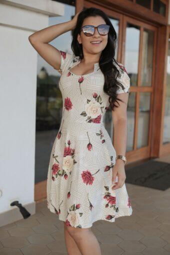 Vestido Godê Listras em Áquila Tauheny Store | Moda Evangélica