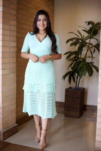 Vestido Tricot Camadas em Áquila Tauheny Store | Moda Evangélica