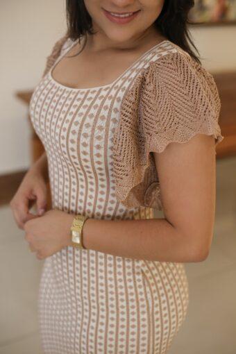 Vestido Tricot Tubinho em Áquila Tauheny Store   Moda Evangélica