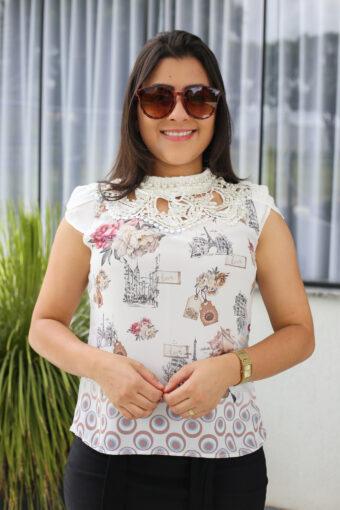 Blusa Crepe Pérola em Áquila Tauheny Store | Moda Evangélica