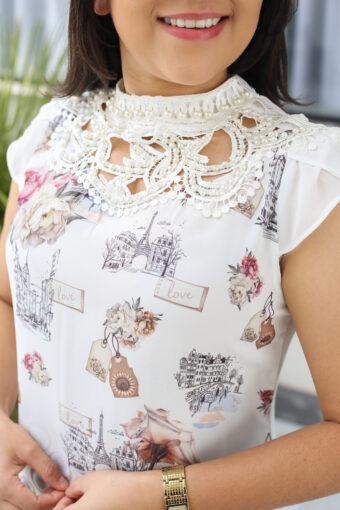 Blusa Crepe Pérola em Áquila Tauheny Store   Moda Evangélica