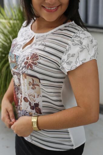 Blusa Seda Estampada em Áquila Tauheny Store   Moda Evangélica