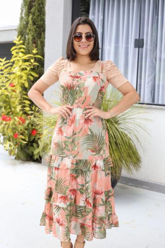 Vestido Crepe Sobreposição em Áquila Tauheny Store | Moda Evangélica