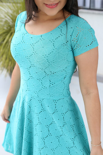 Vestido Godê Lasie Verde em Áquila Tauheny Store | Moda Evangélica