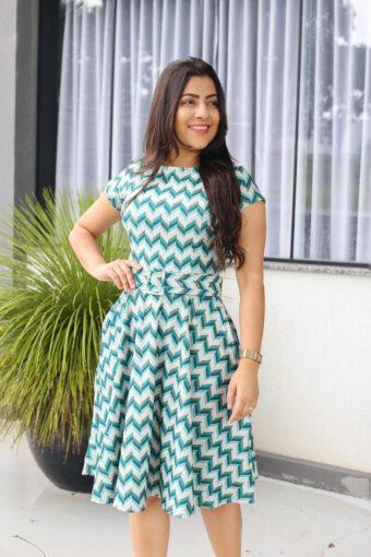 Vestido Godê Verde em Áquila Tauheny Store | Moda Evangélica