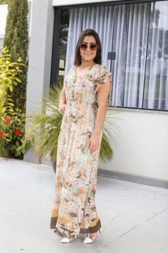Vestido Longo de Crepe em Áquila Tauheny Store | Moda Evangélica