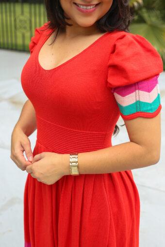 Vestido Tricot Godê em Áquila Tauheny Store | Moda Evangélica