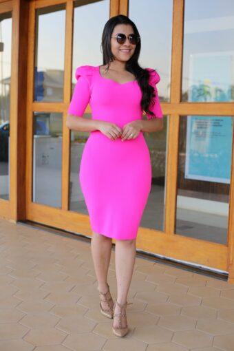 Vestido Tricot Rosa em Áquila Tauheny Store | Moda Evangélica