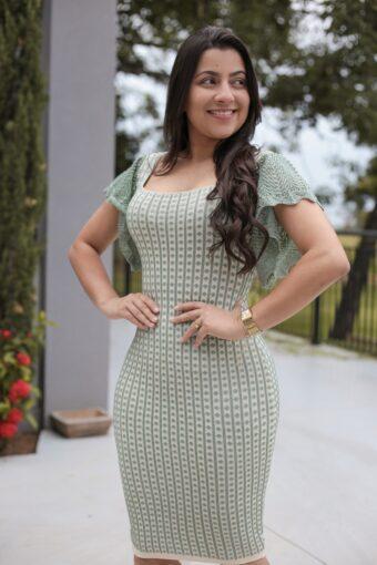Vestido Renda Verde em Áquila Tauheny Store | Moda Evangélica
