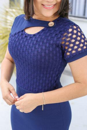 Vestido Tubinho Azul