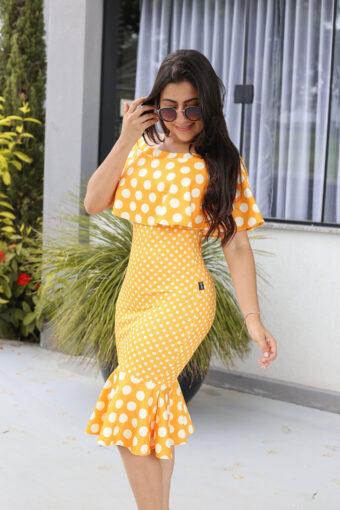 Vestido Tubinho Peplum em Áquila Tauheny Store | Moda Evangélica