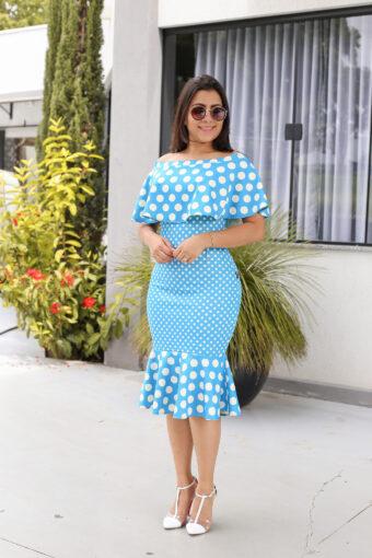 Vestido Tubinho Poá em Áquila Tauheny Store | Moda Evangélica