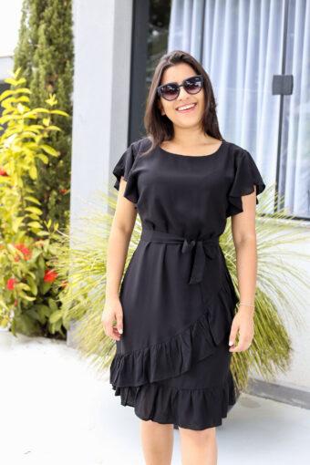 Vestido Viscose Black em Áquila Tauheny Store | Moda Evangélica