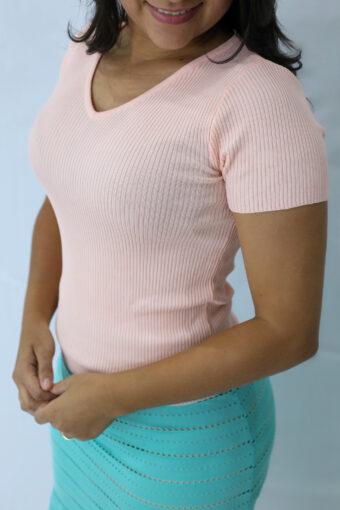 Blusa Malha Canelada em Áquila Tauheny Store | Moda Evangélica