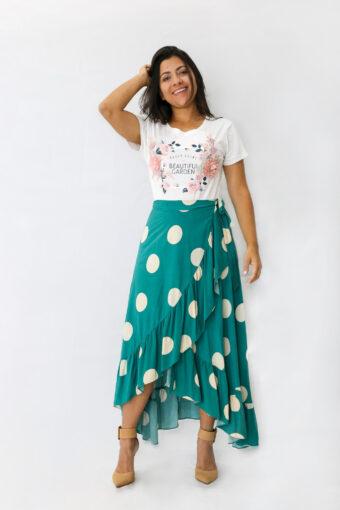Saia Envelope Verde em Áquila Tauheny Store | Moda Evangélica