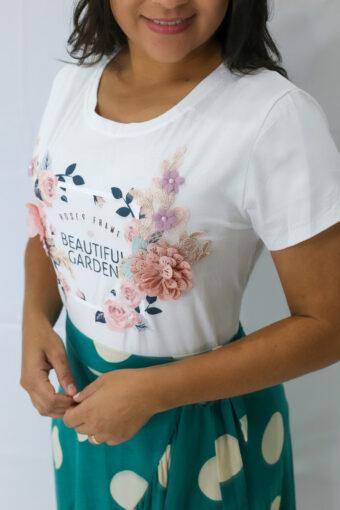 T-shirt Branca em Áquila Tauheny Store | Moda Evangélica