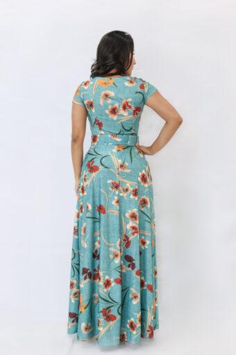 Vestido Longo Floral em Áquila Tauheny Store | Moda Evangélica