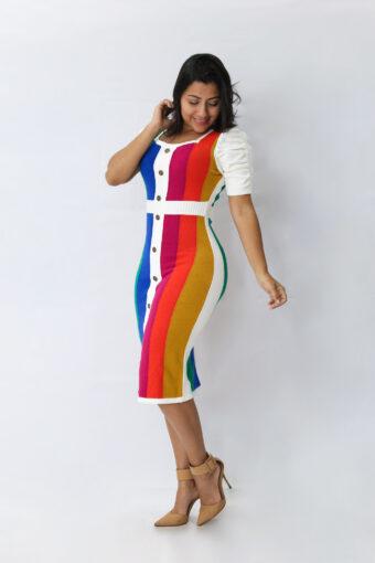 Vestido Tricot Color em Áquila Tauheny Store | Moda Evangélica
