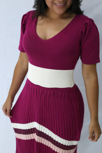 Vestido Tricot Midi Violeta em Áquila Tauheny Store | Moda Evangélica