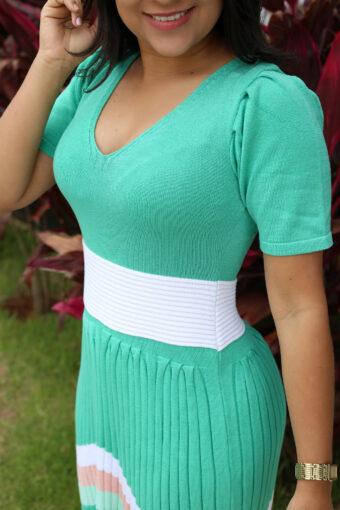 Vestido Tricot Plissado em Áquila Tauheny Store | Moda Evangélica