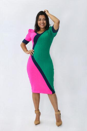 Vestido Tricot Triangular em Áquila Tauheny Store | Moda Evangélica