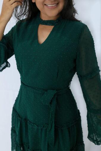 Vestido Tule Verde em Áquila Tauheny Store | Moda Evangélica
