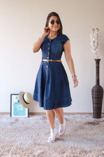 Vestido Jeans Godê em Áquila Tauheny Store | Moda Evangélica