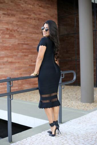 Vestido Bandagem Preto em Áquila Tauheny Store | Moda Evangélica