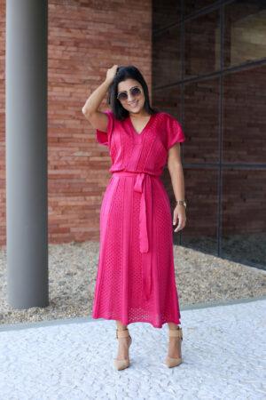 Vestido Tricot Social Pink