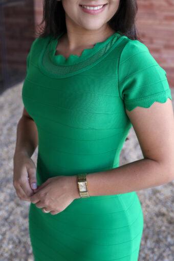 Vestido Tubinho Bandagem Verde em Áquila Tauheny Store | Moda Evangélica