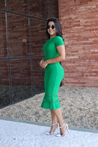 Vestido Tubinho Bandagem Verde em Áquila Tauheny Store   Moda Evangélica