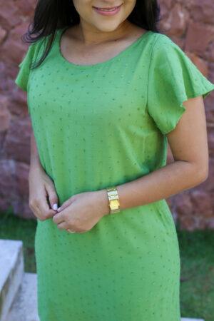 Vestido Viscose Verde