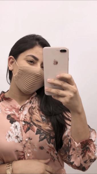 Máscara Nude Tricot de Proteção