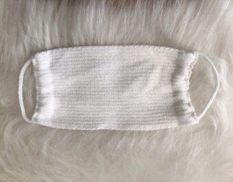 Máscara Branca Tricot de Proteção