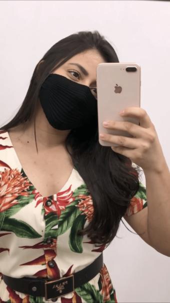 Máscara Preta Tricot de Proteção