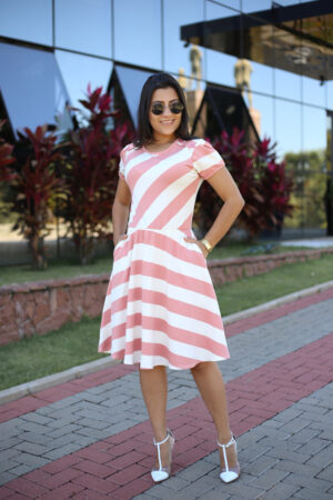 Vestido Malha Rosê Maria Amore