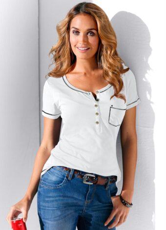 Blusa Branca com Bolso em Áquila Tauheny Store | Moda Evangélica