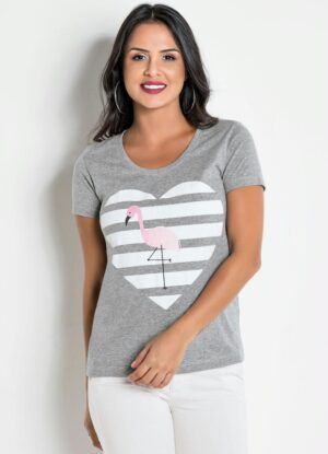T-Shirt Estampada Flamingo