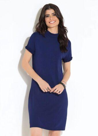 Vestido Clássico Marinho em Áquila Tauheny Store   Moda Evangélica