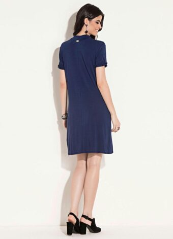 Vestido Clássico Marinho em Áquila Tauheny Store | Moda Evangélica